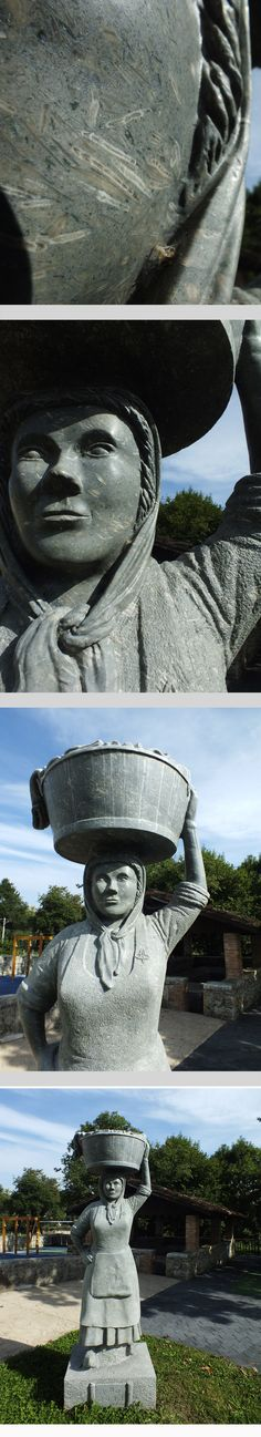 """Homenaje a la mujer lavandera. """"La Lavandera"""" (caliza portadora de fóxiles). San Roque del Acebal. Concejo de Llanes. Principado de Asturias. Spain.    [By Valentin Enrique]."""