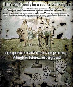 A brighter future...underground. #fallout