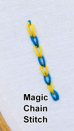 Magic Chain Stitch - #Chain #learning #Magic #Stitch  #chain #learning #magic #ribbonandthread #stitch