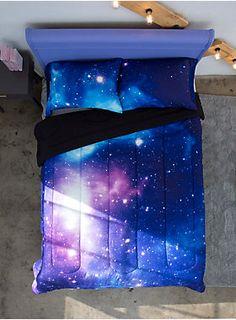 Galaxy Full/Queen Comforter, , hi-res Cute Bedroom Decor, Teen Room Decor, Bedroom Themes, Dream Rooms, Dream Bedroom, My New Room, My Room, Galaxy Bedding, Console
