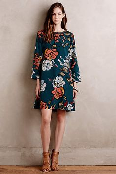 Sketched Peonies Tunic - anthropologie.com