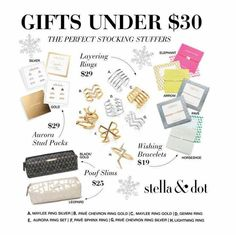 Looking for a Christmas gift?  Check out these beauties by Stella & Dot under $30!