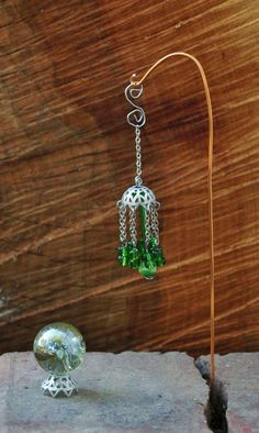Wind chime from jewelry findings