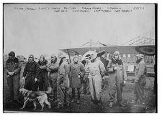 Victor Chapman, Elliott Cowdin, Wm. Thaw, Norman Prince, K. Rockwell, Bert Hall, Lieut. Delnage, J.K. McConnell, Capt. Thenault (LOC)