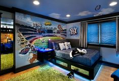 Teenage Boys Room Ideas With The Neon Lights Beneath The Beds. 9 Exciting  Teenage Boys Bedrooms Design Ideas Grass Carpet Is Covering Most Of The  Ground ...