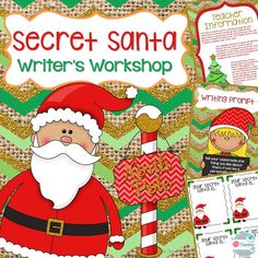 "Secret Santa Writer's Workshop is a classroom community building service unit and writing unit. Students will each have their own ""Secret Santa"", another student in the class who they will secretly be doing service for. Click to read more:https://www.teacherspayteachers.com/Product/Secret-Santa-Writers-Workshop-Christmas-Classroom-Community-Service-Learning-1552825"