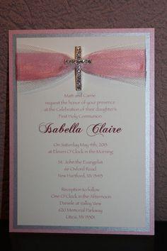 Invitaciones de comunión primera comunión por EmbellishedCouture