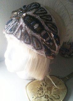 1920s Bohemian Crystal Turban Bridal Beaded by ThePrancingFox