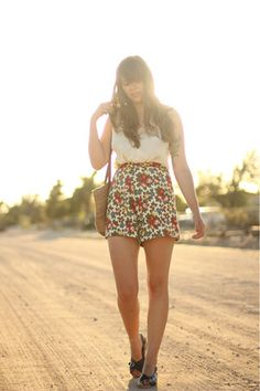 Vintage sandals and summer outfit <3