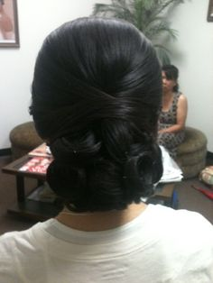Chignon -Hair by Jackie at Bella Angel Www.bella-angel.com