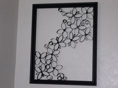 Faux Wrought Iron Wall Art For Under $5 · How To Make A Paper Roll Model · Spray Painting, Papercraft, and Decorating on Cut Out + Keep
