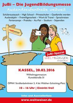 JugendBildungsmesse in #Kassel am 20. Februar 2016, Wilhelmsgymnasium