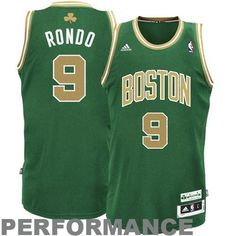 Adidas Boston Celtics Rajon Rondo St Patricks Swingman Jersey by adidas. $83.99. Officially licensed. Jock tag at bottom left. 100% Polyester mesh provides a nice, comfortable feel. Wear your NBA team pride  and  a little luck of the Irish in the adidas® St Patrick's Swingman jersey. It's decorated in St. Patrick's Day colors and designed with screenprinted and tackle twill player and team graphics on the chest and back; a woven adidas® St. Patrick's Day jock tag highli...