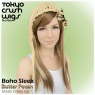 Boho Sleek - Butter Pecan Boho Waves- Light Blonde $46.99 with free shipping within the U.S.