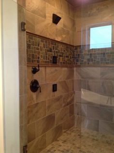 custom tile shower with slate accent - Fantastisch Bing Steam Shower