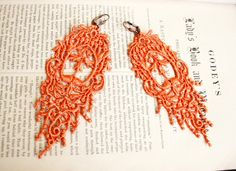 romantic lace earrings JULIANA  tinaevarenee on Etsy  #jewelry #lace #fashion #earrings