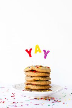 Chocolate Chip Cookie Birthday Cake // Studio DIY (love the YAY)