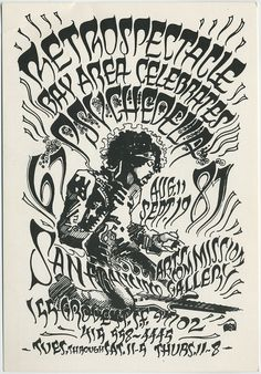Concert Poster by Rick Griffin, one of the art nouveau revival artists of the late 60s