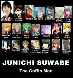 Grimmjow and Freed's voice actor. :) and voices many more too