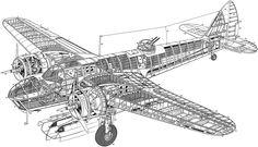 Cutaway view of a Bristol Blenheim bomber.