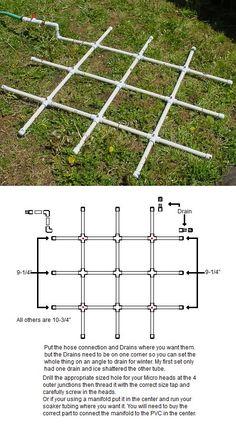 PVC Watering Grid Tutorial on Square Foot Gardening at http://squarefoot.creatingforum.com/t11301-pvc-watering-grid