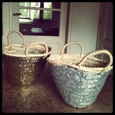 My home Sequin Baskets by Serendipity.