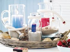 nautical decor diy | Beach home decorating ideas and accessories - Driftwood and seashells