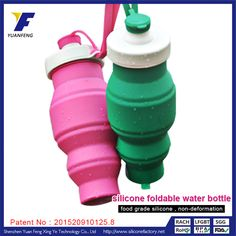 Portable Mini Collapsible Soft Silicone Sport Water Bottle Wholeslae Suplliers Manufacturer Compare Price at www.siliconefactory.net and E-mail:sophia@gjzpc.com