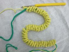 Crochet Spiral for Cords/Ties - Tutorial