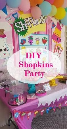 Mrs. Sheets & Co.: DIY Shopkins Birthday Party