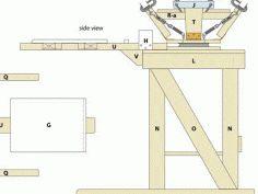 planos para construir pulpo serigrafico 4 brazos