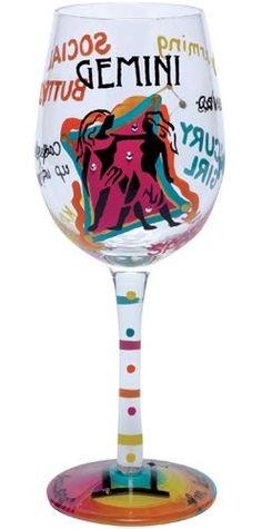 Gemini Lolita wine glass