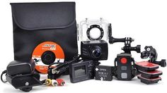 ActionPro Waterproof Camcorder. Capture the action while biking, skiing, surfing and more with this entire package! Only AUS $175. Inspector Gadget, Camcorder, Biking, Surfing, Action, Australia, Electronics, Projects, Bags