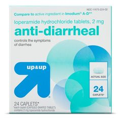 Anti-Diarrheal Loperamide Caplets - 24 ct - up   up Active Ingredient 1f52e1b55ce4a