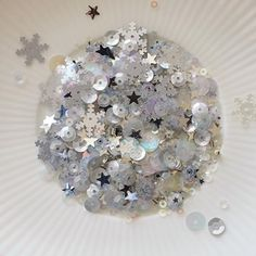 Little Things From Lucy's Cards JACK FROST Sequin Shaker Mix LB44