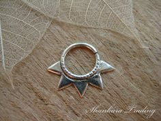 Tribal Star Septum Ring Sterling Silver Septum by ShankaraTrading