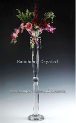 Doule Pillar Tall Glass Candle Holder & Crystal Candlestick For Wedding (bs-ch026) - Buy Glass Candle Holder,Candlestick,Crystal Candlestick Product on Alibaba.com