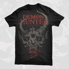 Awesome shirt from the greatest band ever. Christian Metal, Christian Rock Bands, Band Merch, Band Shirts, Demon Hunter Band, Zombie Hunter, Post Apo, Band Logos, Red Logo