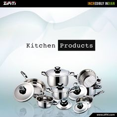 Shop for Indian Kitchen Utensils in the USA from Zifiti.com. Choose kitchenware from a huge selection of high-quality Indian cooking utensils including Tiffin, Nonstick Cookware, Crockery, Utensils, Kitchen Accessories, Bowls, Tawa, Dinner Set, Tea Set, Masala Dabbas, Kadais, Handis, Serving Spoons and many more.