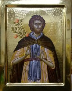 Saint Euphrosynos - Άγιος Ευφρόσυνος - For more go to http://greekorthodoxicons.wordpress.com/2016/01/16/saint-euphrosynos-άγιος-ευφρόσυνος/