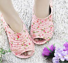 House Shoes Slippers Cotton Indoor Home living room Kitchen Shoe for Women PINK #topmintstar #SlipperShoes