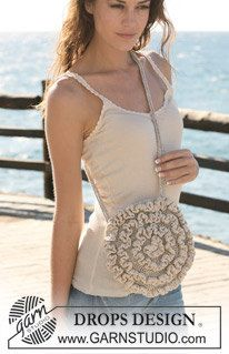 Crochet Circle Purse Shoulder Bag Cross body by Silkwithasizzle