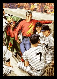 Flash and JSA meet the Yankees by John Watson