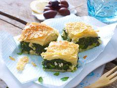 Griechische Rezepte: Spinatpita mit Sesam