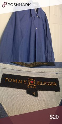 Men's Tommy Hilfiger buttondown shirt Very pretty men's blue Tommy Hilfiger buttondown shirt. Perfect for a business casual day at the office. Excellent condition. Tommy Hilfiger Shirts Casual Button Down Shirts