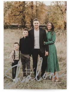 A Large Photo And A Brushy Script Complete This Design. Bold And Typographical, Grey Hanukkah Cards From Minted By Independent Artist Ashlee Townsend. Family Portrait Outfits, Fall Family Photo Outfits, Family Portrait Poses, Family Picture Poses, Family Posing, Family Photo Shoots, Winter Family Pictures, Christmas Pictures Outfits, Holiday Family Photos