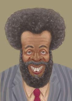 Artist rendering of Whitman Mayo aka Grady Wilson from Sanford And Son