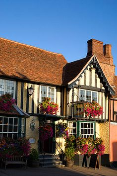 The Greyhound Pub, Lavenham, Suffolk, England, United Kingdom. England Ireland, England And Scotland, British Pub, British Isles, Beautiful World, Beautiful Places, Suffolk England, England Uk, Uk Pub