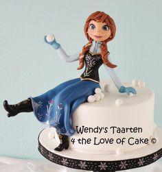 Anna frozen - Cake by Wendy Schlagwein Torte Frozen, Anna Frozen Cake, Frozen Doll Cake, Disney Frozen Cake, Frozen Theme Cake, Disney Cakes, 4th Birthday Cakes, Frozen Birthday Cake, Disney Dishes