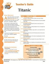Free 12-Page Lesson Plan on KIDS DISCOVER Titanic